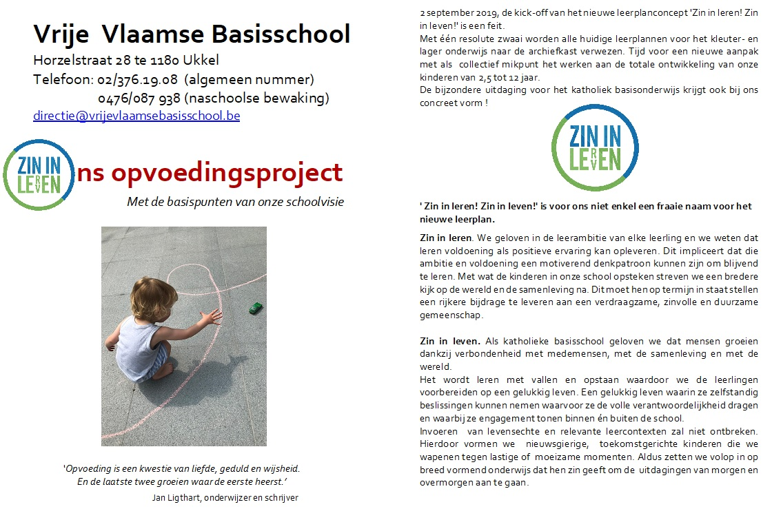 Opvoedingsproject 2019 pagina 1